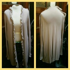 INC ruffle trimmed duster